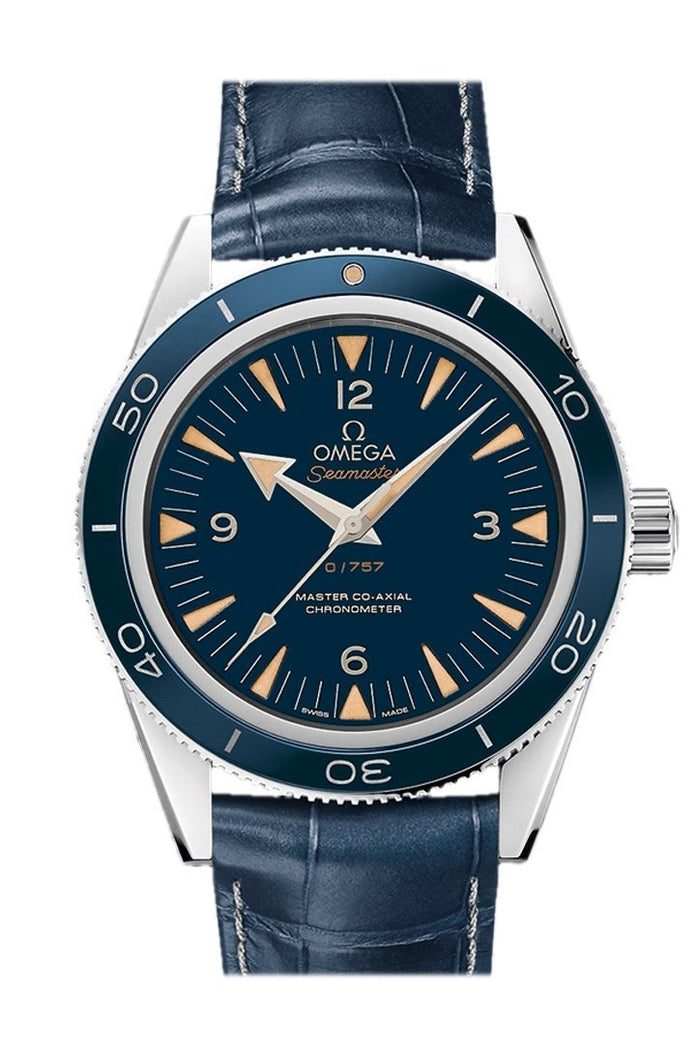 Omega Seamaster 300 Master Co-axial 41mm Automatic Blue Dial Platinum Men's Watch 233.93.41.21.03.001