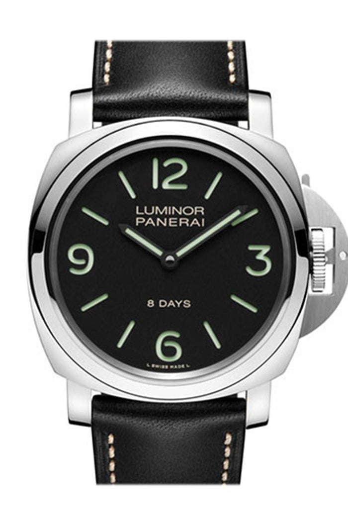 Panerai Luminor Base 8 Days Acciaio Mechanical Men's Watch PAM00560
