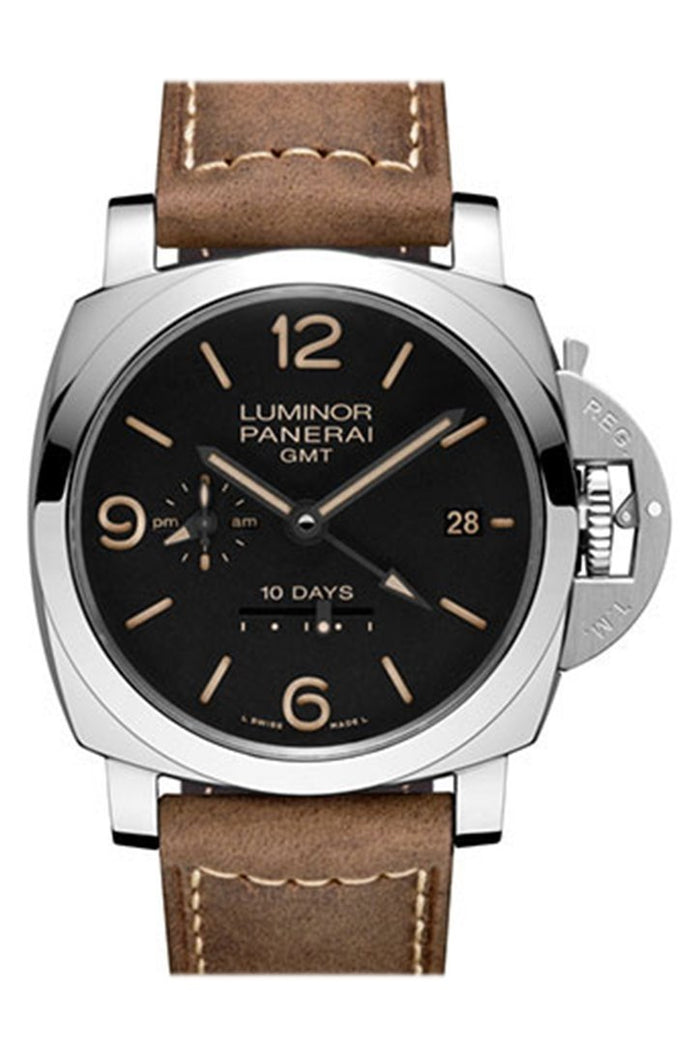 Panerai Luminor 1950 10 Days GMT Black Dial Men's Watch PAM00533