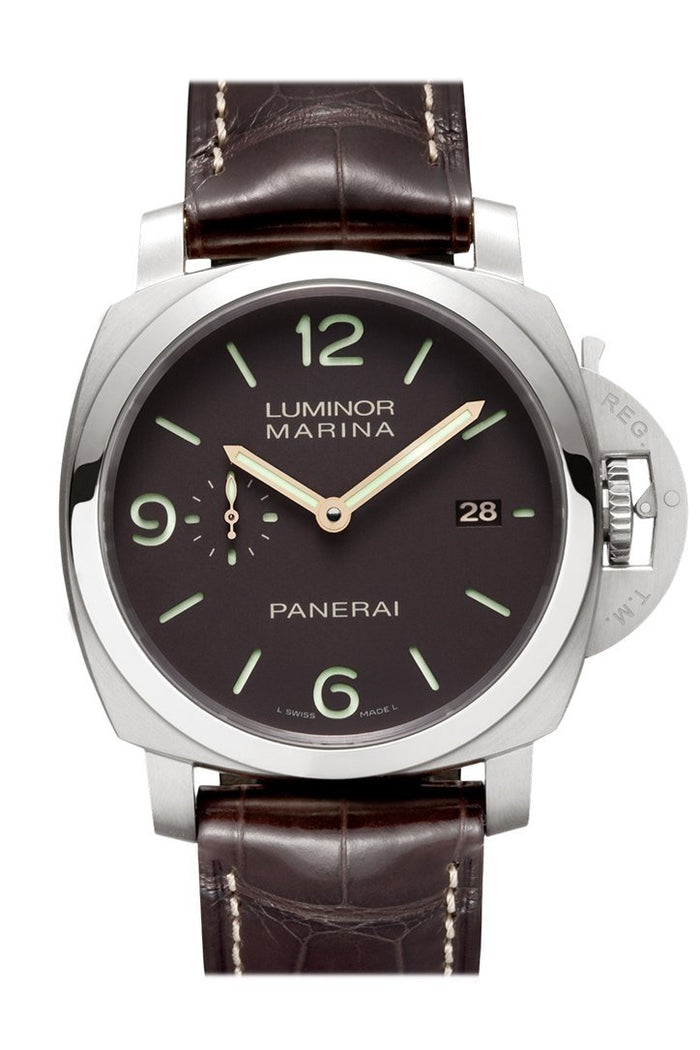 Panerai Luminor Marina 1950 3 Days Automatic Titanio 44mm Brown Dial Men's Watch Pam00351