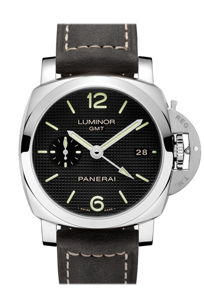 Panerai Luminor 1950 3 Days Gmt Automatic Acciaio 42Mm Black Dial Mens Watch Pam00535