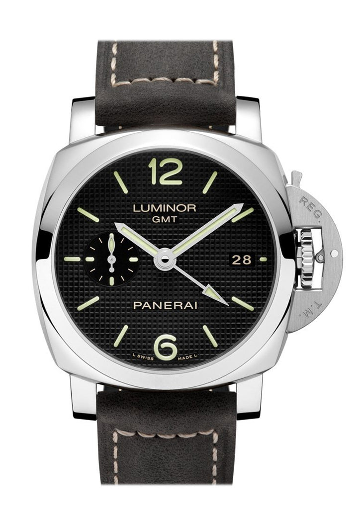 Panerai Luminor 1950 3 Days Gmt Automatic Acciaio 42mm Black Dial Men's Watch Pam00535
