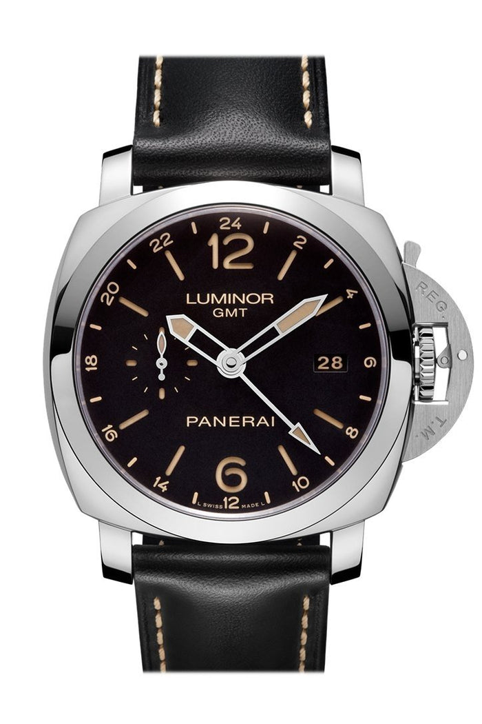 Panerai Luminor 1950 3 Days Gmt 24h Automatic Acciaio 44mm Black Dial Men's Watch Pam00531