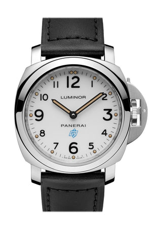 Panerai Luminor Base Logo Acciaio 44Mm White Dial Mens Watch Pam00630