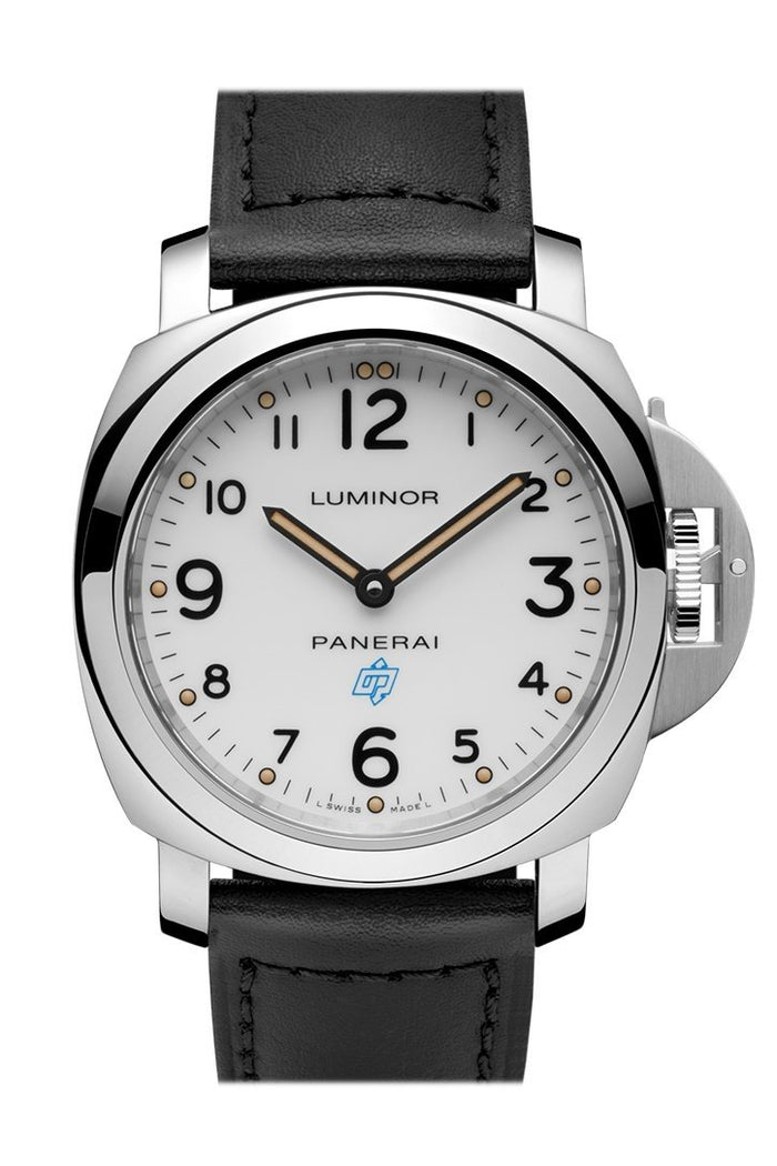 Panerai Luminor Base Logo Acciaio 44mm White Dial Men's Watch Pam00630