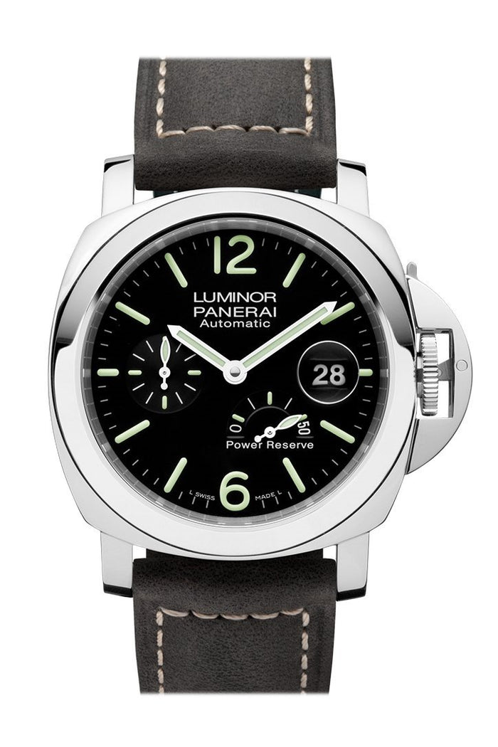 Panerai Luminor Power Reserve Automatic Acciaio 44mm Black Dial Men's Watch Pam01090