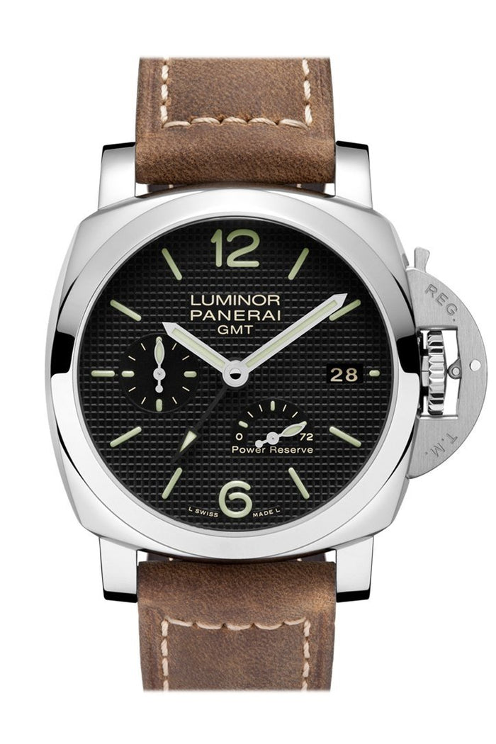 Panerai Luminor 1950 3 Days Gmt Power Reserve Automatic Acciaio 42mm Black Dial Men's Watch Pam00537