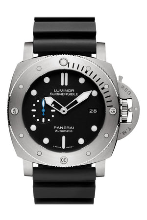 Panerai Luminor Submersible 1950 3 Days Automatic Titanio 47Mm Black Dial Mens Watch Pam01305
