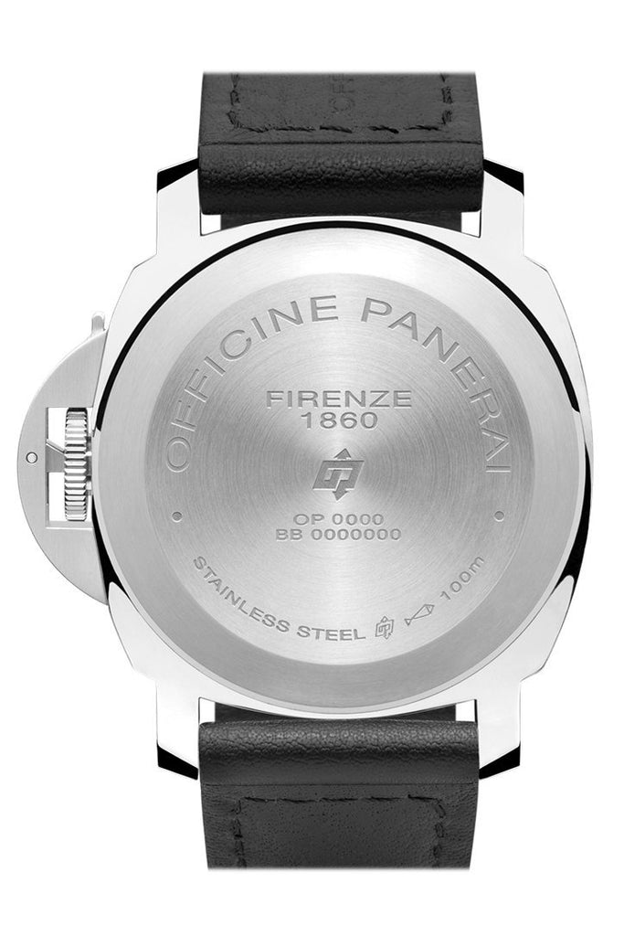 Panerai Luminor Base Logo Acciaio 44mm Black Dial Men's Watch Pam01000