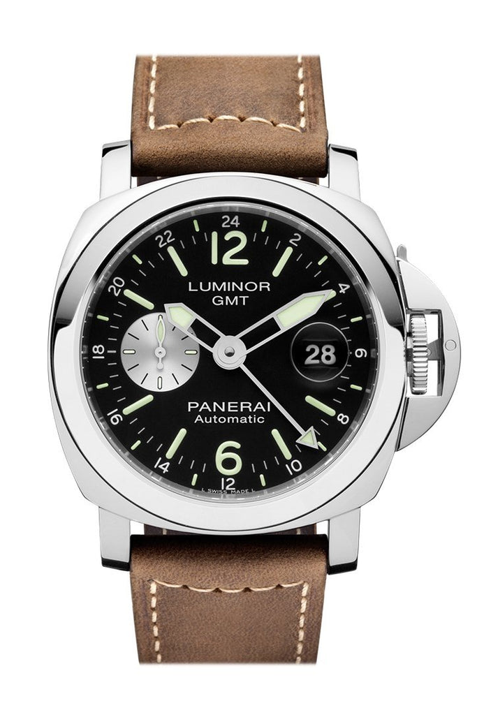 Panerai Luminor Gmt Automatic Acciaio 44Mm Black Dial Mens Watch Pam01088