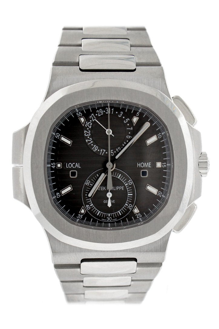 Patek Philippe Nautilus Travel Time Chronograph Stainless Steel Automatic Mens Watch 5990-1A-001