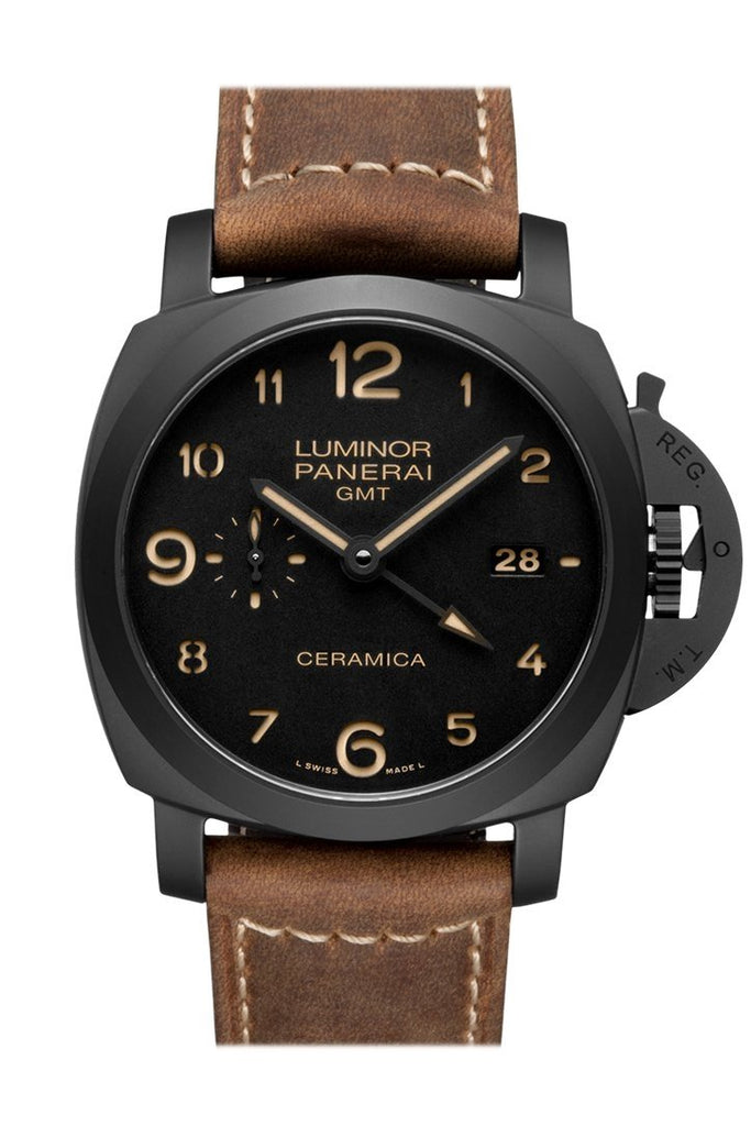 Panerai Luminor 1950 3 Days Gmt Automatic Ceramica 44Mm Black Dial Mens Watch Pam00441