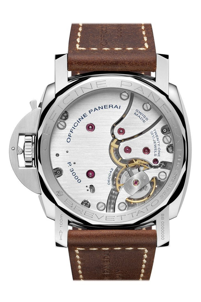 Panerai Luminor Marina 1950 3 Days Acciao 47mm Brown Dial Men's Watch Pam00663
