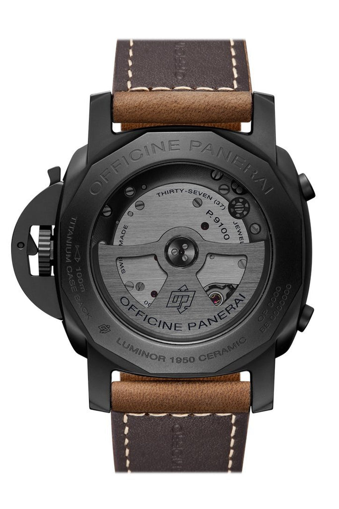 Panerai Luminor 1950 3 Days Chrono Flyback Automatic Ceramica 44mm Black Dial Men's Watch Pam00580