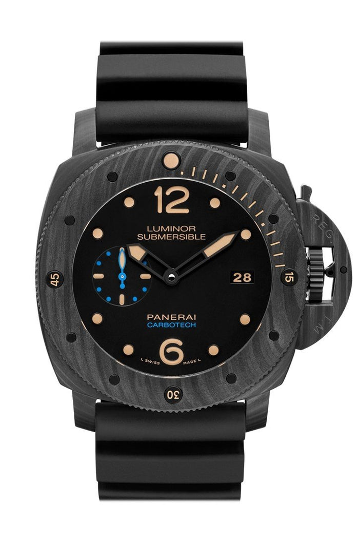 Panerai Luminor Submersible 1950 Carbotech™ 3 Days Automatic 47mm Black Dial Men's Watch Pam00616