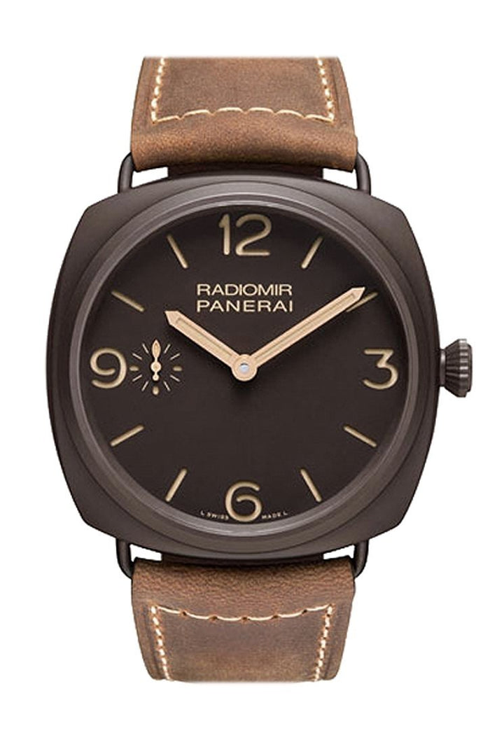 Panerai Radiomir Composite Brown Dial Brown Leather 47mm Men's Watch PAM00504