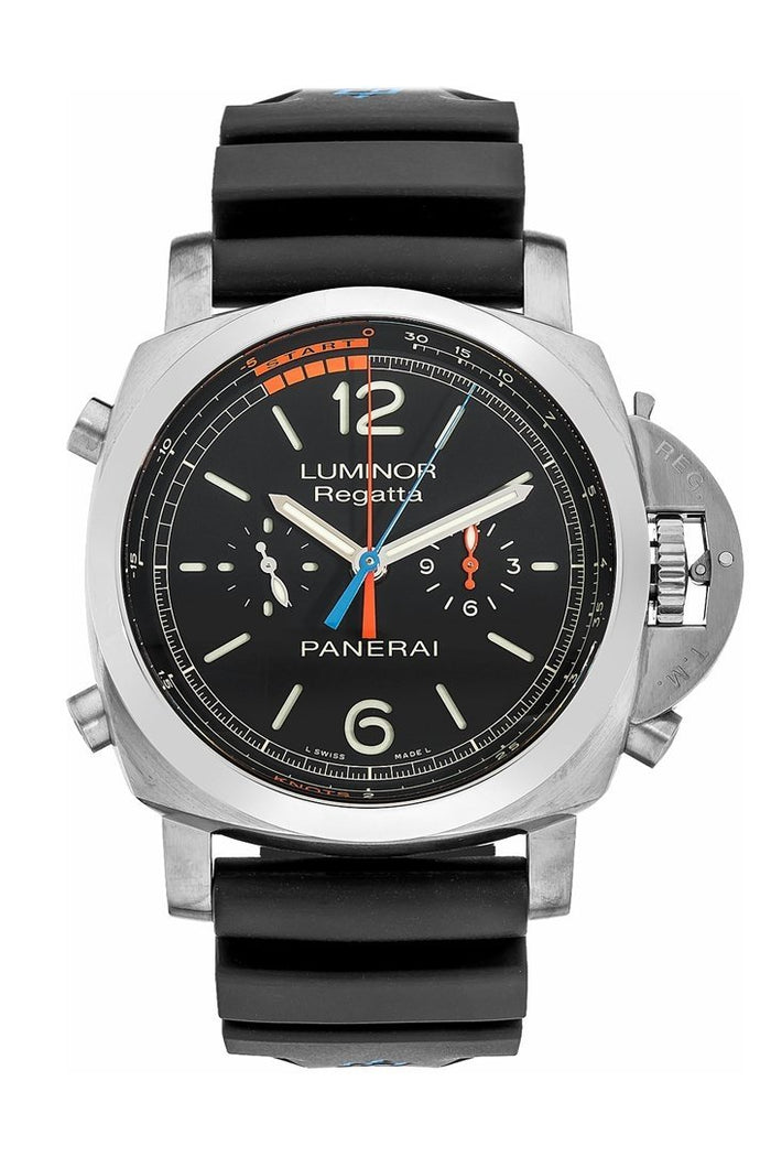 Panerai Luminor 1950 3 Day Chrono Flyback Regatta Black Dial 47mm Men's Watch PAM00526