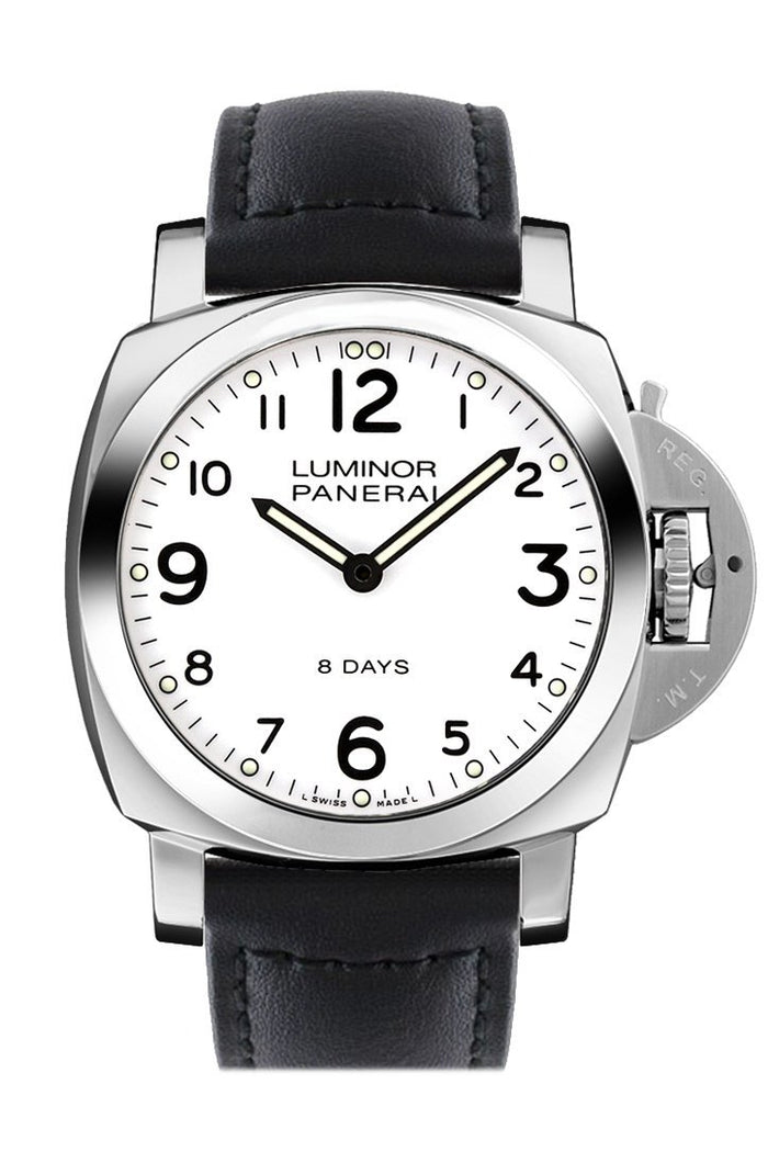 Panerai Luminor Base 8 Days Acciaio Mechanical Black Dial 44mm Men's Watch PAM00561