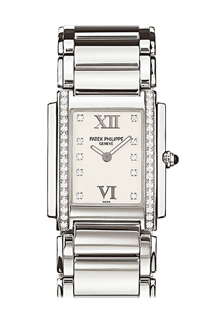 Patek Philippe Twenty-4 Ladies Steel Diamond Watch 4910/10-011