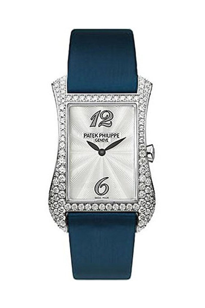 Patek Philippe Gondolo Serata 18kt White Gold Diamond Blue Ladies Watch 4972G-001