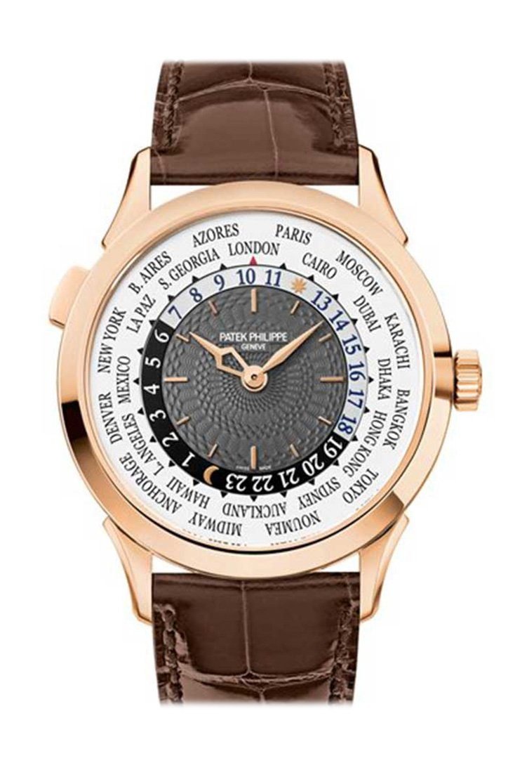 Patek Philippe Complications Automatic World Time 18Kt Rose Gold Mens Watch 5230R-001