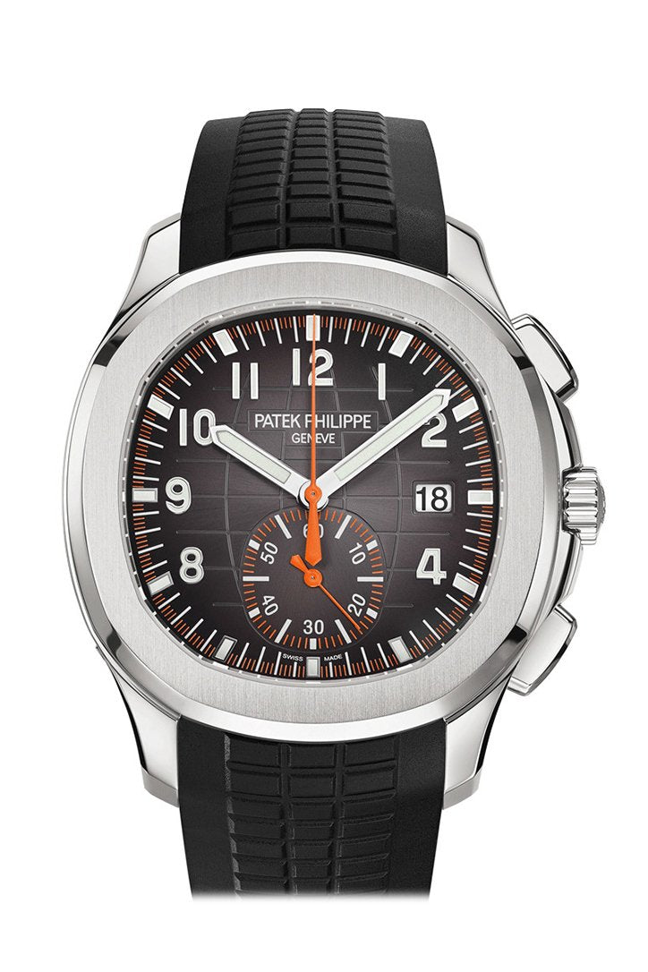Patek Philippe Aquanaut Black Dial Automatic Mens Chronograph Watch 5968A-001