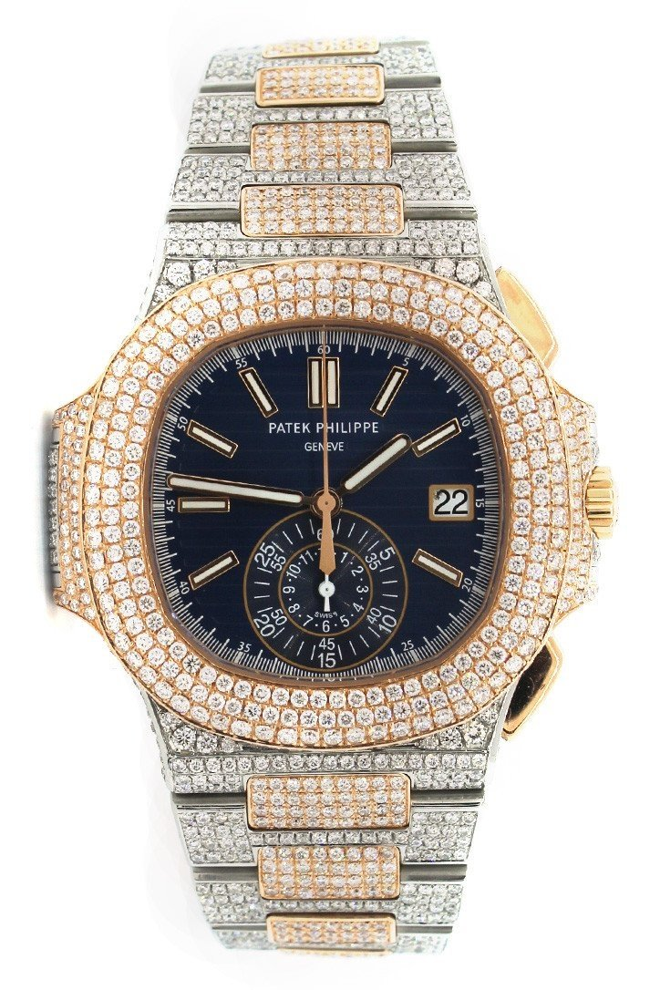 Patek Philippe Nautilus Custom Diamonds 5980/1Ar-001 Blue / None Watches