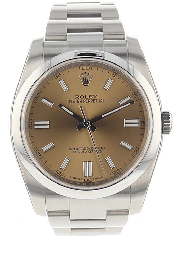 Rolex Date 36 Smooth White Grape Dial Stainless Steel Watch 116000