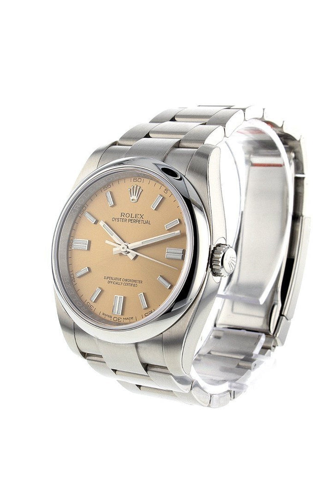 ROLEX 116000 Date 36 Smooth White Grape Dial Stainless Steel Watch| WatchGuyNYC