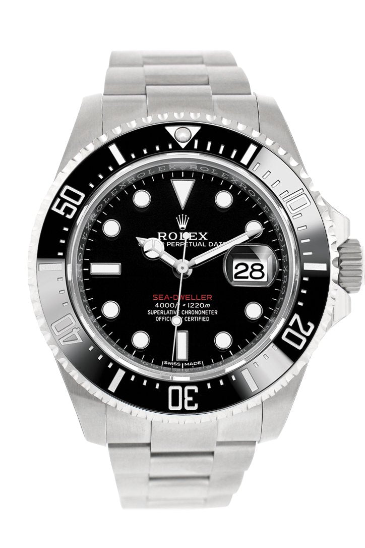 Rolex Sea Dweller Black Dial Stainless Steel Mens Watch 126600