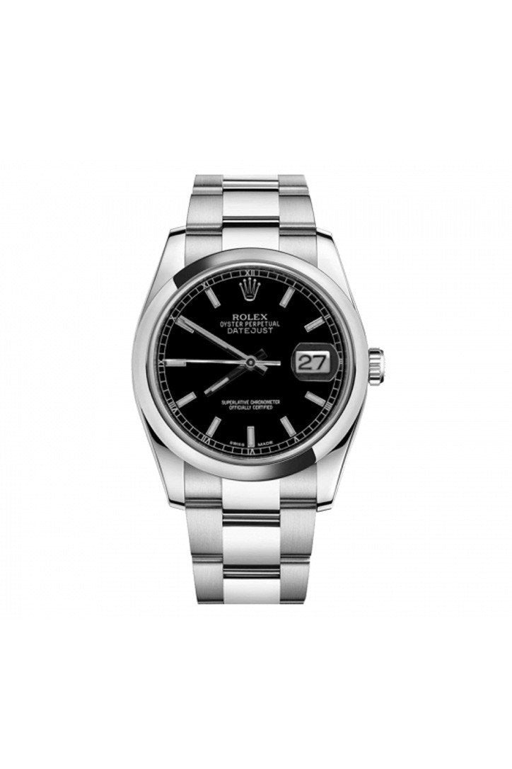 Rolex Datejust 36 Black Dial Stainless Steel Watch 116200