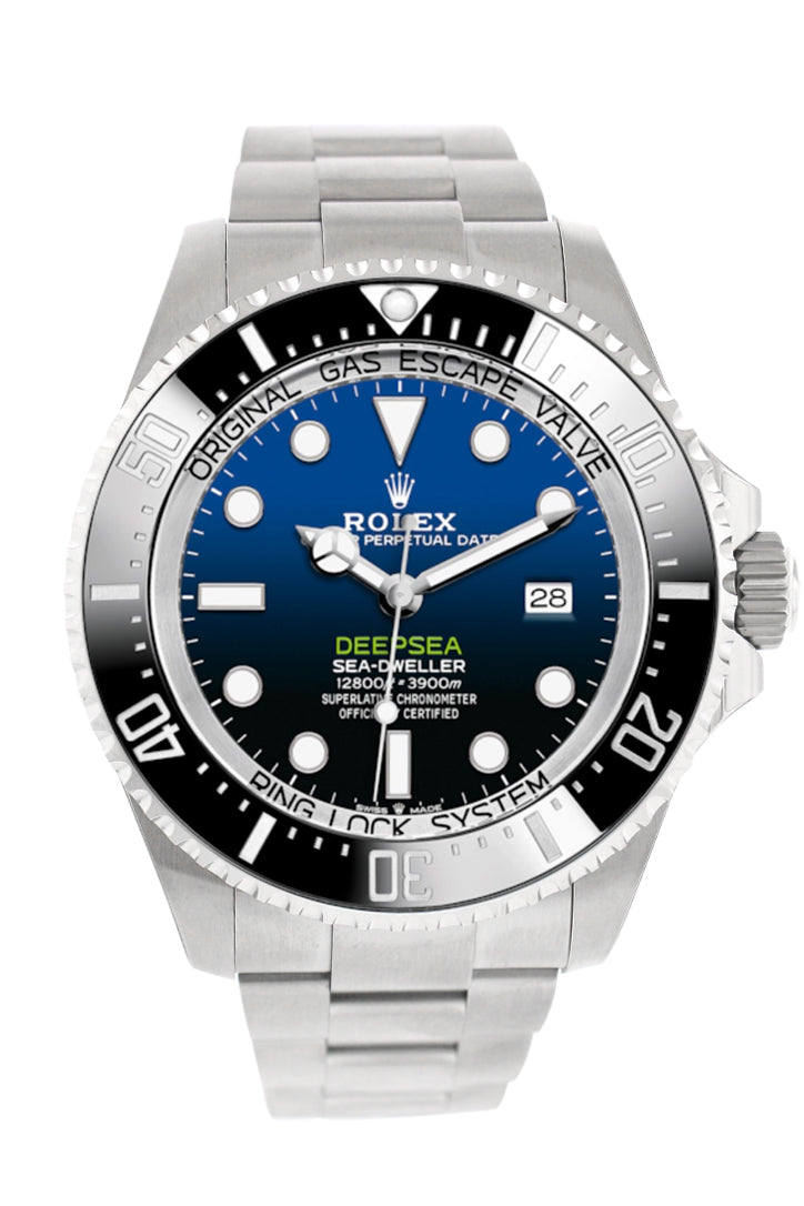 Rolex Deepsea Sea-Dweller D-Blue 44 Dial Automatic Men's Stainless Steel Oyster Watch 126660