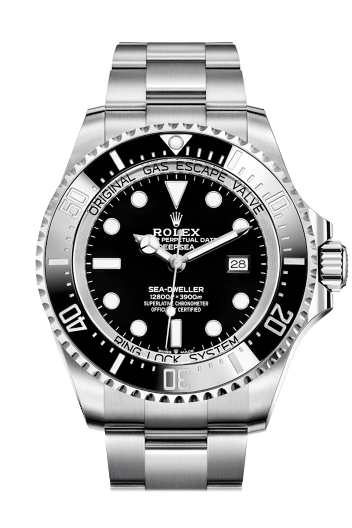 Rolex Sea-Dweller Deepsea 44 Black Dial Automatic Men's Stainless Steel Oyster Watch 126660