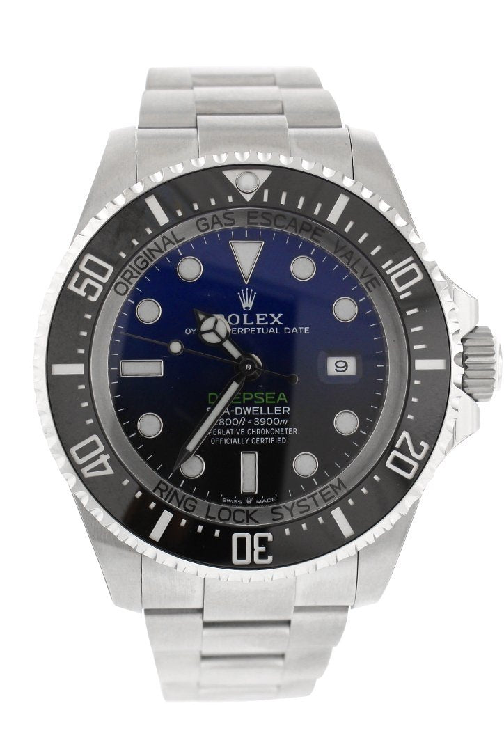 Rolex Sea Dweller Deepsea 44 Deep Blue Dial Stainless Steel Mens Watch 116660