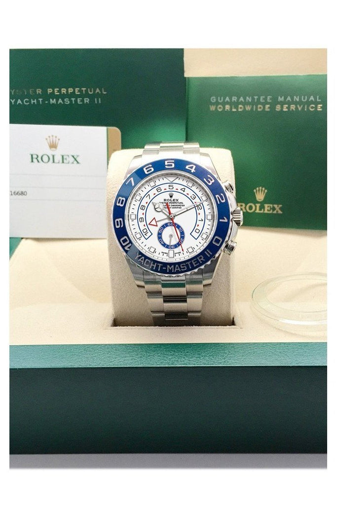 Rolex Yacht-Master Ii 44 White Dial Stainless Steel Mens Watch 116680