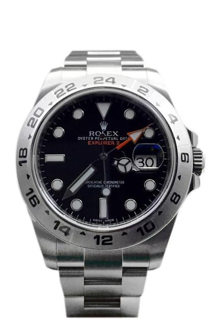Rolex Explorer Ii Black Dial Stainless Steel Mens Watch 216570