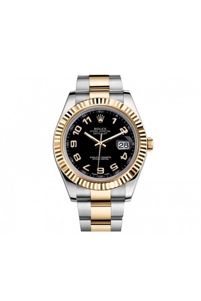 ROLEX 116333 Datejust II 41 Black Arabic Dial Men'S Watch | WatchGuyNYC
