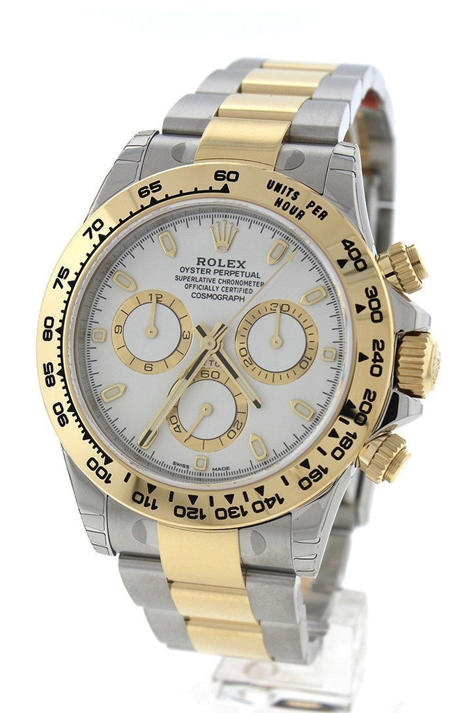 ROLEX 116503 Cosmograph Daytona White Dial Stainless Steel Gold Men's Watch | WatchGuyNYC