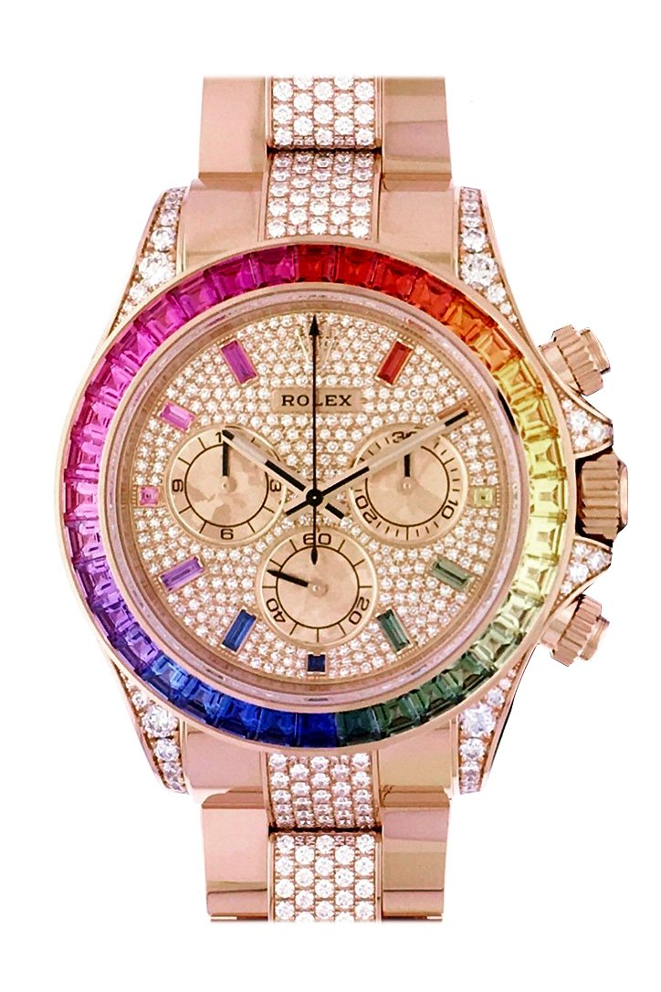 Rolex Cosmograph Daytona Everose Rainbow Watch 116595Rbow 116595