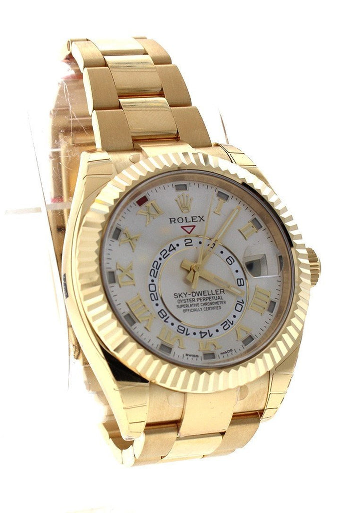 WatchGuyNYC_RN032_ROLEX_SKY_DWELLER_SILVER_DIAL_18KT_YELLOW_GOLD_MEN_S_WATCH_326938_ROLEX Sky-Dweller 42 Silver Roman Dial Yellow Gold Men's Watch 326938
