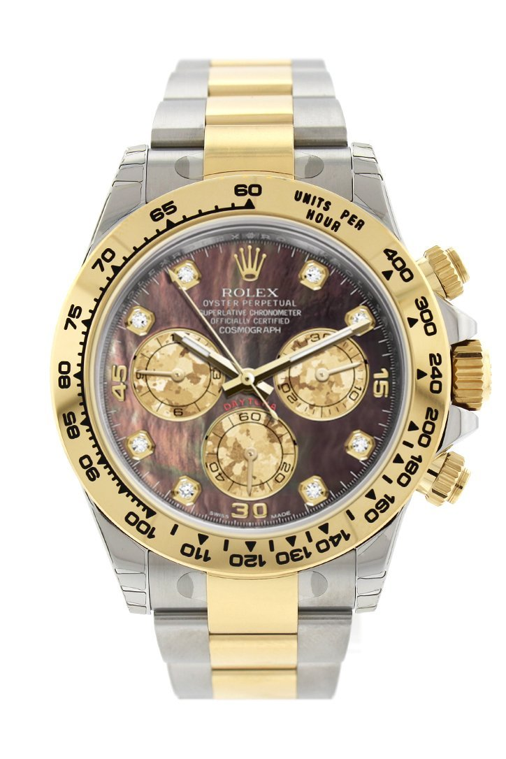 Rolex Cosmograph Daytona Black Mother Of Pearl Diamond Dial Oyster Bracelet Watch 116503