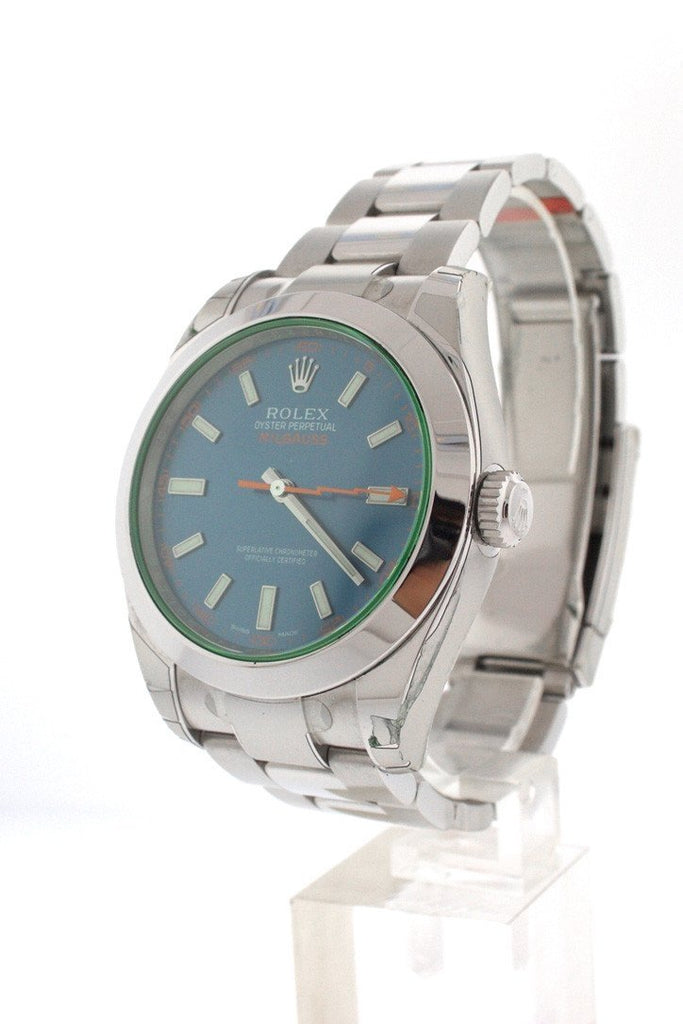 ROLEX 116400Gv Milgauss Blue Dial Stainless Steel Men's Watch | WatchGuyNYC