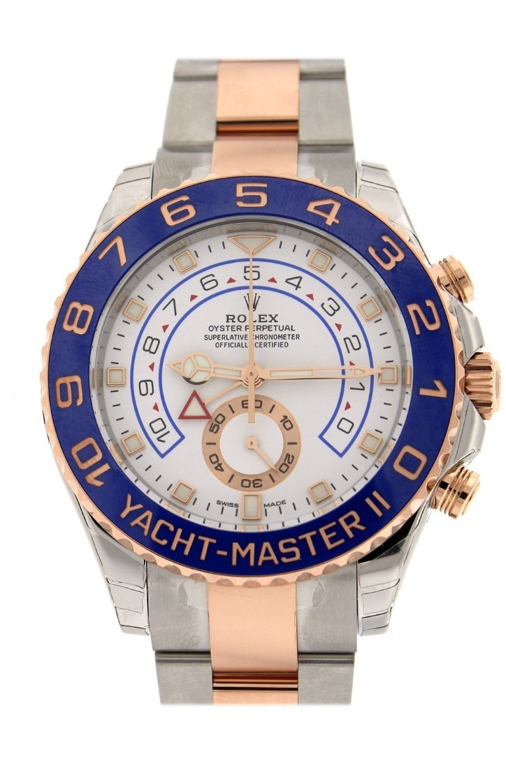 Rolex Yacht-Master Ii 44 18K Rose Gold And Steel Watch 116681 White