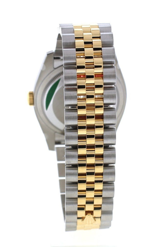 Rolex Datejust 36 Champagne-Colour Diamond Dial Fluted 18K Gold Two Tone Jubilee Watch 116233