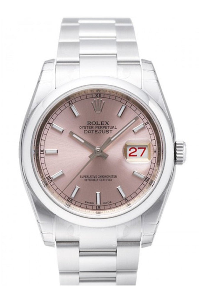 Rolex Datejust 36 Pink Dial Stainless Steel Watch 116200 / None