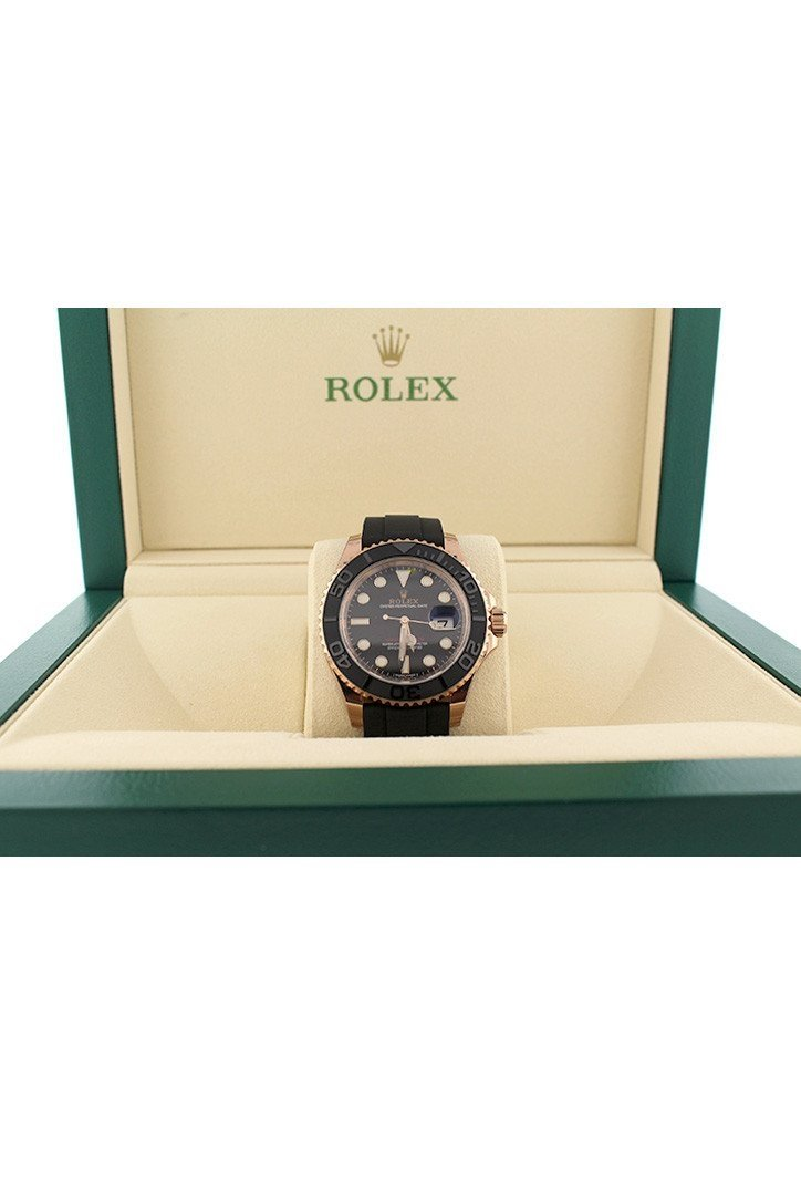 Rolex Yacht-Master 40 Black Dial 18K Rose Gold Mens Watch 116655