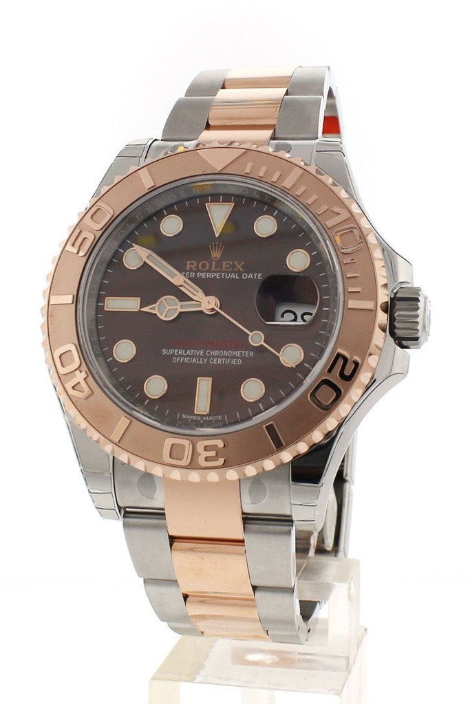 ROLEX 116621 YACHT-MASTER Chocolate Dial 18k Rose Gold Mens Watch | WatchGuyNYC