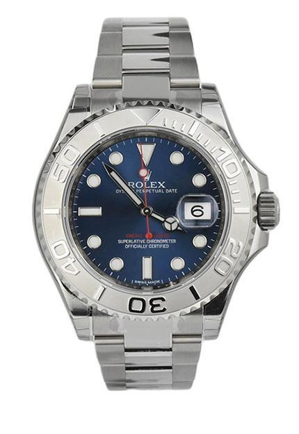 Rolex 116622 YACHT-MASTER Blue Dial Platinum Steel Mens Watch | WatchGuyNYC