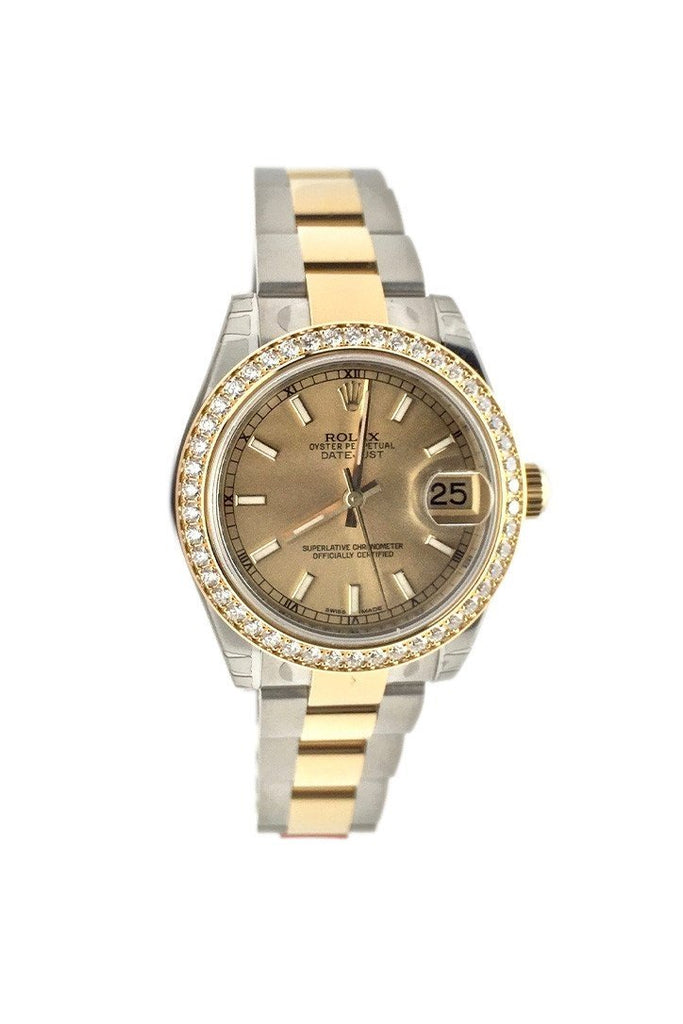 ROLEX 178383 Datejust 31 Champagne Dial 18k Yellow Gold Ladies Watch
