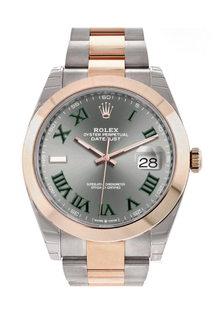 Rolex Datejust 41 Slate Dial Men's Steel and 18kt Everose Gold Oyster Watch 126300